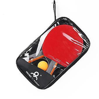 Ping Pong Paddle Set 2 Table Tennis Rackets 3 Balls Storage Case