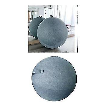 Blue Yoga Ball Cover 65cm Pilates Sitting Ball Chair Dustproof Protector Slipcover(Blue)