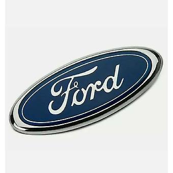 Ford Badge Oval Azul/Chrome 150mm x 60m Emblema Traseiro Foco Mondeo Transit