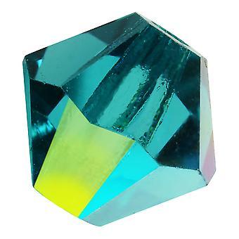 Preciosa التشيكية كريستال، بيكون حبة 5mm، 32 قطعة، الأزرق زركون AB