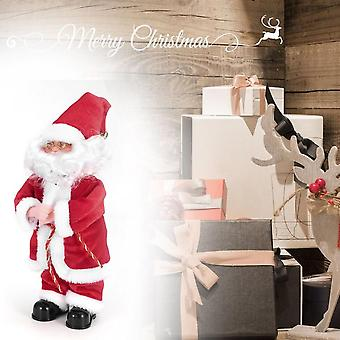 Christmas Electric Santa Claus Toys Home Decor Party Decoration Standing Doll
