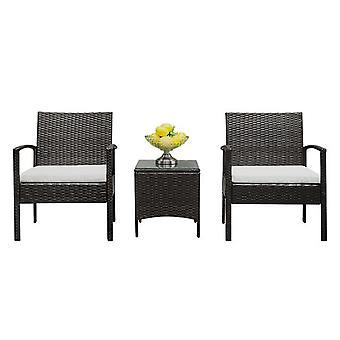 Garden Furniture Tempered Glass Sofa Set