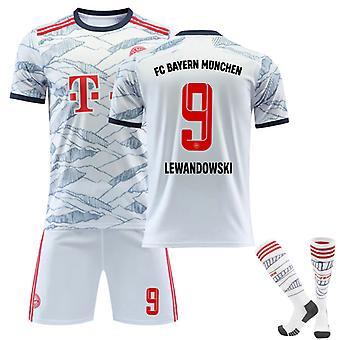 Lewandowski #9 Jersey 2021-2022 Uusi kausi FC Bayern München Jalkapallo T-paidat Jersey Set for Kids Youths