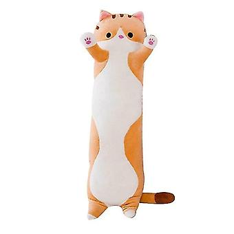 Stuffed animals 130cm soft cute plush long cat pillow cotton doll toy office lunch sleeping pillow christmas gifts
