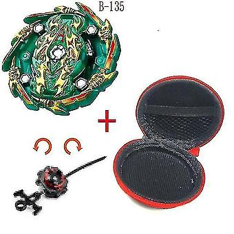 Spinning tops 5 beyblade burst sparking turbo b48 launcher  metal top gyro blade blade spinning fight toys b135