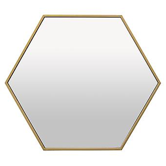 Plutus Brands Wall Mirror Decoration in Gold Metal - PBTH92295