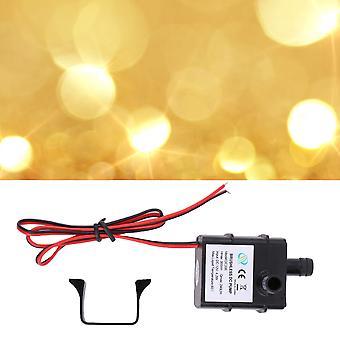 Pompe à eau universelle authentique Dc 240l / h 12v Mini Ultra Silencieux Pompe Noire
