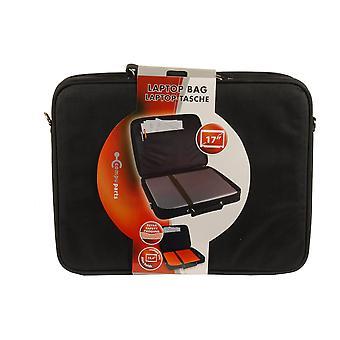 17 pollici Laptop che trasportano borsa Extra sicurezza imbottitura nera