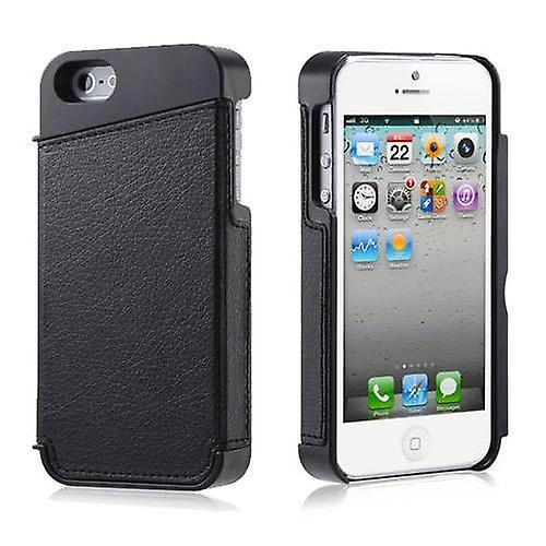 Secret Door Case Cover For iPhone 5 5S SE - Black (PU Leather)