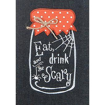 Eat Drink Be Scary Halloween 28 Inch Embroidered Kitchen Dish Tea Towel