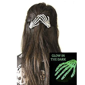 Dark World-skelet handen haar clips-Glow in the Dark