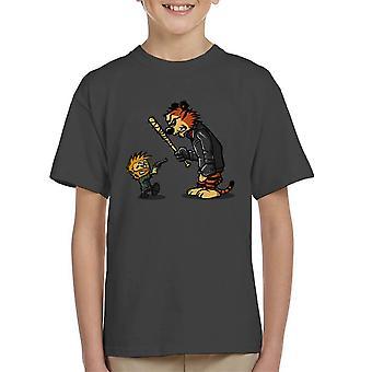 Opstaan Calvin en Hobbes Walking Dead Negan Rick Kid's T-Shirt