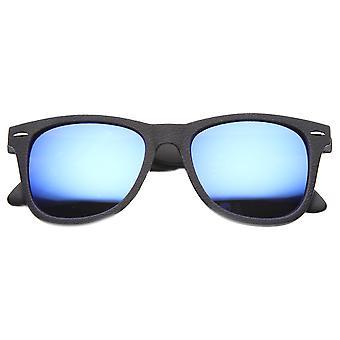 Flash Mirrored Lens Horn Rimmed Journeyman Sunglasses