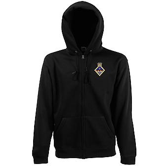 HMS Wildfire Embroidered Logo - Official Royal Navy Zipped Hoodie Jacket