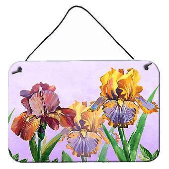 Violet et jaune Iris mur ou porte suspendue imprime