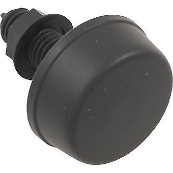 """Herga 6433-AZZZ 0.8"""" HS 2"""" FD Threaded Air Button - Black"""