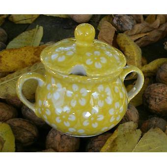 Sugar Bowl jam jar, Bolesławiec yellow, BSN m-4365