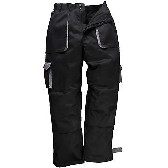 Portwest Mens Contrast Workwear Pants Trousers (Tx11) Black, Navy