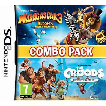Madagascar 3The Croods Double Pack (Nintendo DS) - Novo