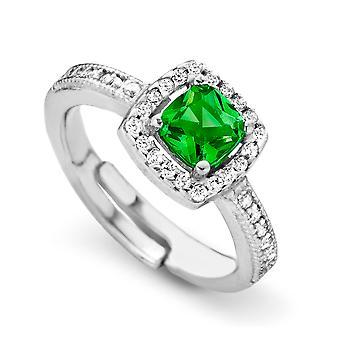 Orphelia Silver 925 Ring prinses zirkonium groen ZR-7199/GR