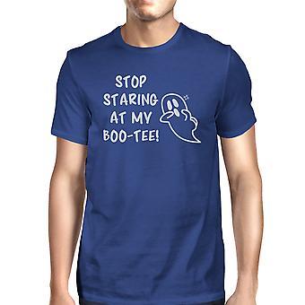 Stoppe gloede på min Boo Herre blå T-Shirt Halloween matchende skjorter