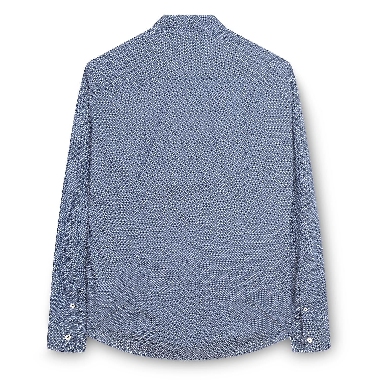 Fabio Giovanni Latiano Shirt - Mens Italian Casual Stylish Micro Print Shirt 100% Cotton - Long Sleeve