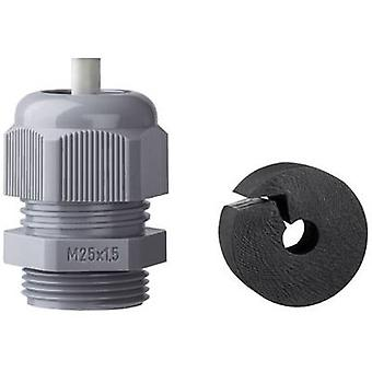 Glándula de Cable Jacob K345-1025-01 con prensacable M25 poliamida gris (RAL 7001) 1 PC