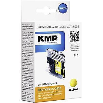 KMP encre remplacé Brother LC-223Y Compatible B51 jaune 1529,0009