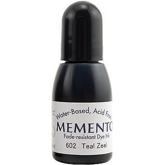Memento Dye Ink Refill .5oz-Teal Zeal