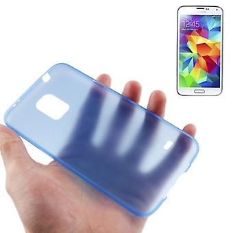 Beschermende cover case ultra dunne 0.3 mm voor mobiele Samsung Galaxy S5 / S5 neo blauw transparant