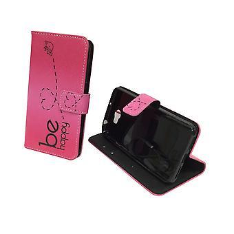 Caso di copertura del telefono cellulare per mobile Huawei Y5 II / 2 essere felice rosa