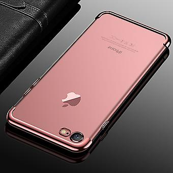 Handy Hülle Schutz Case für Apple iPhone 7 / 8 Durchsichtig Transparent Rose Pink