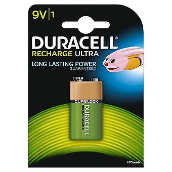 Duracell Recharge Ultra 170mAh 9V Typ NiMH Batterie