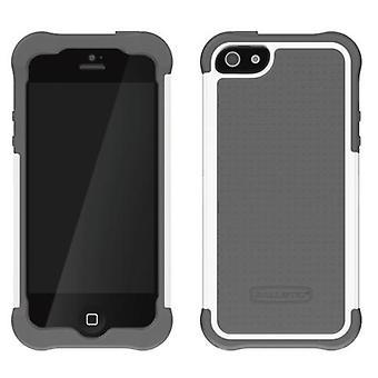 Ballistic Shell Gel Case for Apple iPhone 5 (White/Gray)