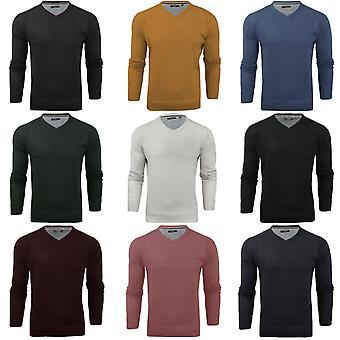 Tapfere Seele Mens Quazar V-Ausschnitt Langarm Pullover Pullover Sweatshirt Top gestrickt