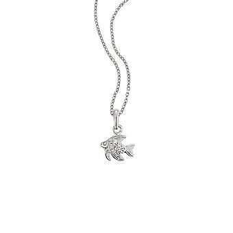 Skautky náhrdelník, stříbrný třpytek 261085200