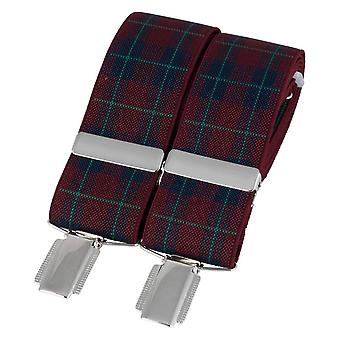 David Van Hagen Tartan Braces - Red