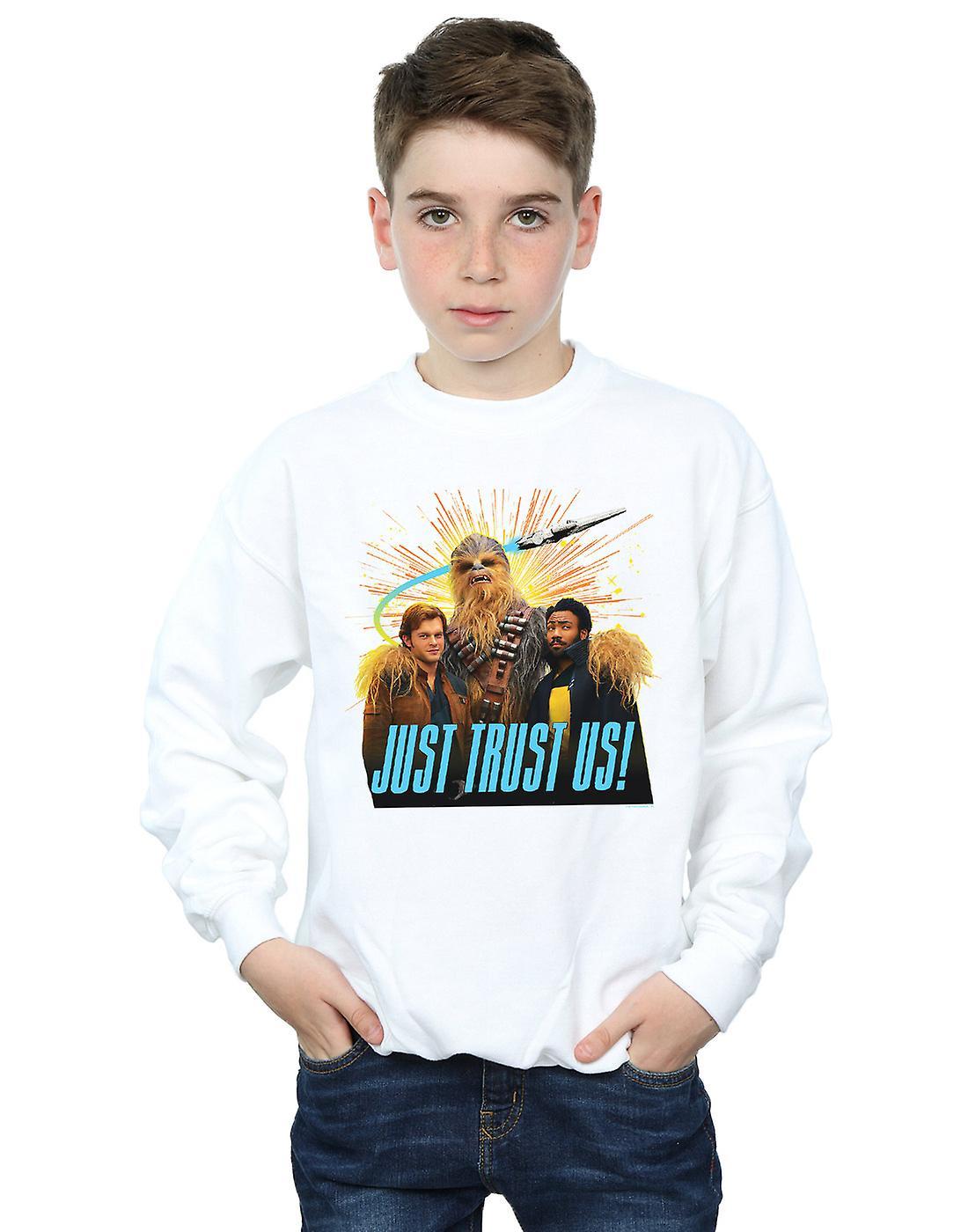Star Wars Boys Solo Just Trust Us Sweatshirt