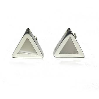 Cavendish French Silver mother of pearl triangular earrings