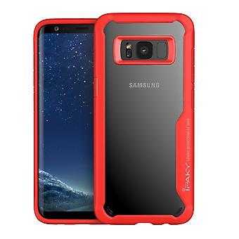 IPAKY Samsung Galaxy S8 Plus TPU Hybrid Shell-Red