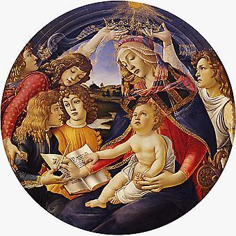 Madonna del Magnificat, Sandro Botticelli, 50x50cm