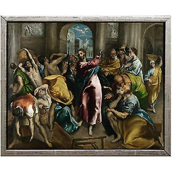 With Ram The Purification of the temple, El Greco, 61x51cm
