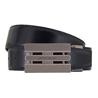 MIGUEL BELLIDO clasico belt belt men's belts leather belt blue/Brown 7735