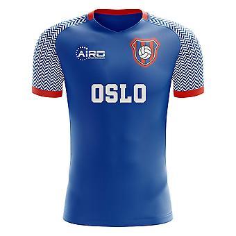 2020-2021 Valerenga الصفحة الرئيسية مفهوم قميص كرة القدم - طفل رضيع