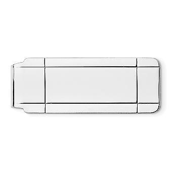 925 Sterling Argento Solido Lucido Ingeribile Clip denaro - 13.9 Grams