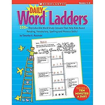 Dagelijks woord Ladders: Rangen 1-2: 150 + reproduceerbare Word studie lessen die kinderen helpen stimuleren lezen, woordenschat, Spelling en Phonics vaardigheden!