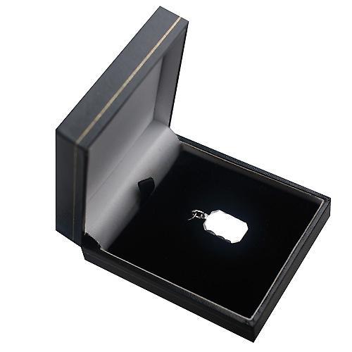 Silber 18x12mm Diamantschliff Kante Schnitt Ecke rechteckige Scheibe
