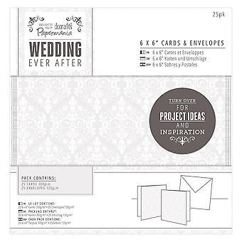 """DoCrafts casamento alguma vez após 6 X 6"""" cartões de casamento e Envelopes 25 Set"""
