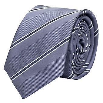 Tie stropdas tie stropdas 8cm grijs/blauw Fabio Farini wit gestreept