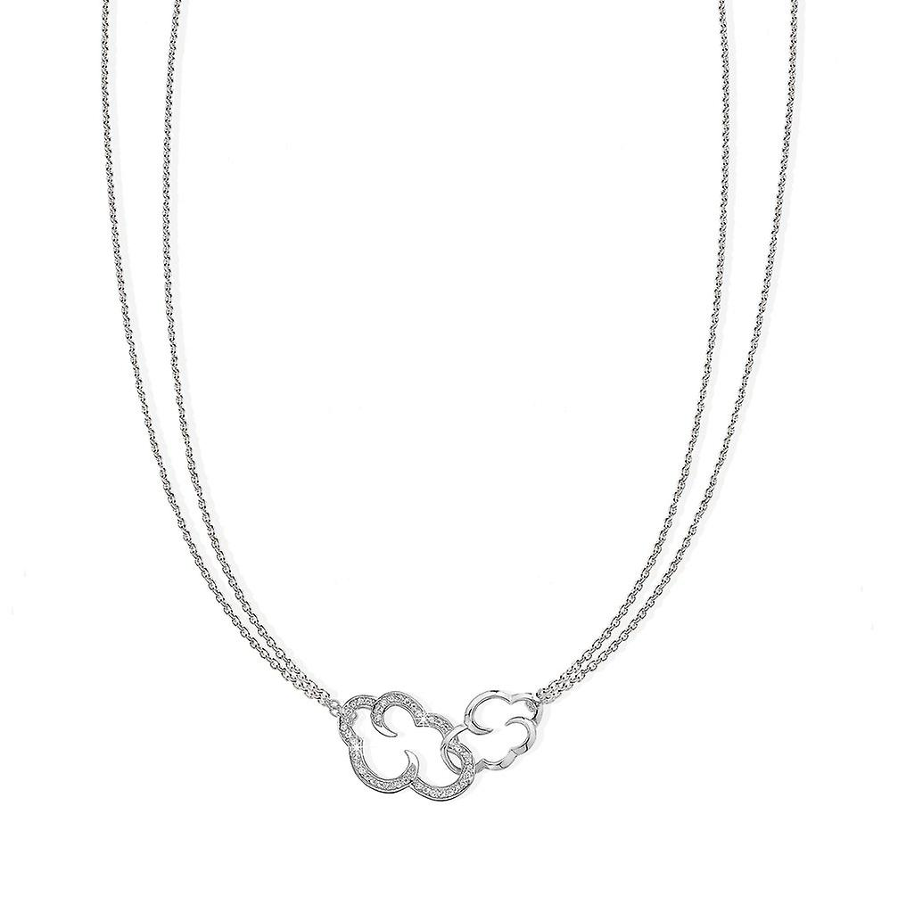 Vixi DayDream Linked Cloud Silver Pendant Necklace